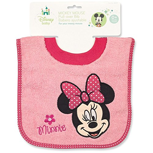Absorbent Terry Cloth Pullover (Minnie Mouse Terrycloth Pullover Baby Bib)