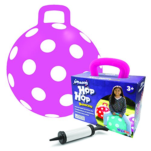 MegaFun USA Lots-a-Dots Hop Bouncers Toy, Pink Hopper Dot