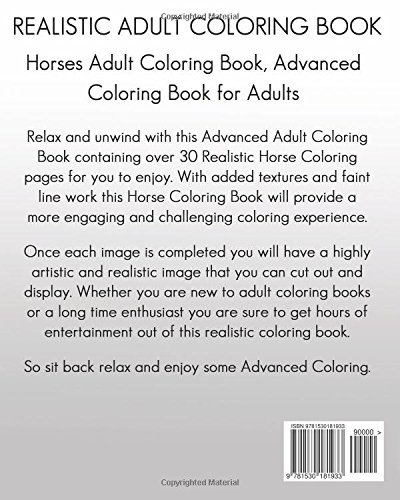 Amazon Com Horse Adult Coloring Book Realistic Adult Coloring Book