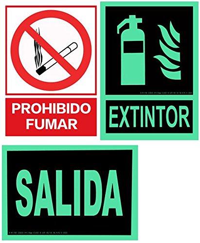 CIEFU-PACK 3 - CARTEL INDICADOR - SALIDA & EXTINTOR ...