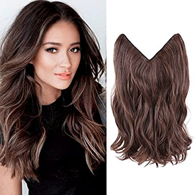 "HairPhocas 14"" #2/30 Dark Brown Color Secret Hair Extensions Synthetic Curly Wave Hairpieces"