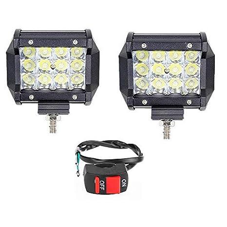 1c056a89b Wangsales White 12 Led Led Fog Light Bar Waterproof Driving Headlights Fog  Lamp Lighting Accessories with