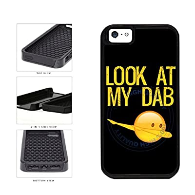 Look At My Dab 2-Piece Dual Layer Phone Case Back Cover For Apple iPhone 5 5s includes BleuReign(TM) Cloth and Warranty Label