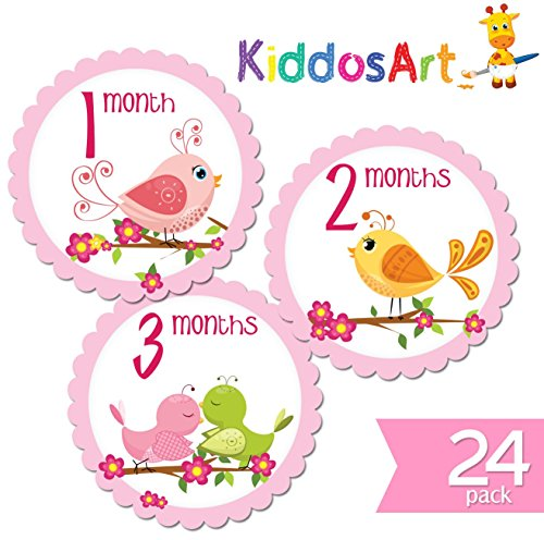 Stickers KiddosArt Milestone Bodysuit Stickers