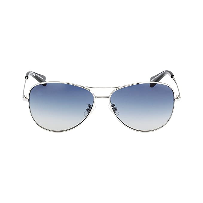 826cc71921c2 Coach Women's Designer Sunglasses, Silver/Navy/Blue Gradient, 59-13-135:  Amazon.ca: Clothing & Accessories