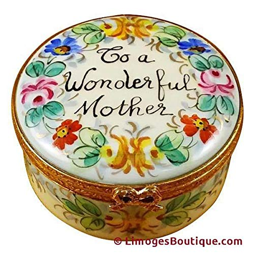 - TO A WONDERFUL MOTHER - STUDIO COLLECTION - LIMOGES BOX AUTHENTIC PORCELAIN FIGURINE FROM FRANCE
