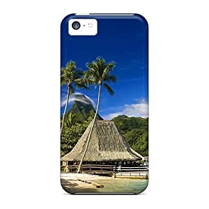 Jeffrehing Case Cover Protector Specially Made For Iphone 5c Beach