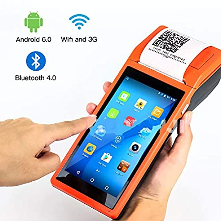 TQ Android WiFi POS PDA Terminal 1D Barcode Scanner Lector de 58mm ...
