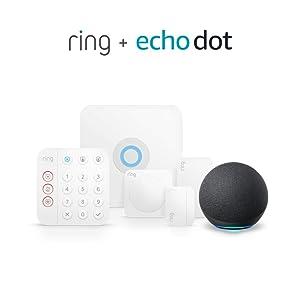 Ring Alarm 5-piece kit (2nd Gen) bundle with Echo Dot (4th Gen) - Charcoal