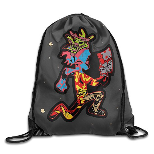 QiBePlo ICP Insane Clown Posse Gym Drawstring Backpack Sport Bags (Insane Clown Posse Bag)