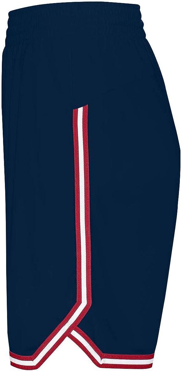 Holloway Sportswear Womens Retro Basketball Shorts M Navy//Scarlet//White
