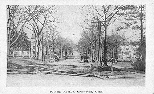 Greenwich Connecticut Putnam Avenue Street Scene Antique Postcard - Avenue Stores Greenwich