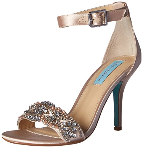 Blue by Betsey Johnson Women's Sb-gina Dress Sandal, Champagne, 9.5 M US