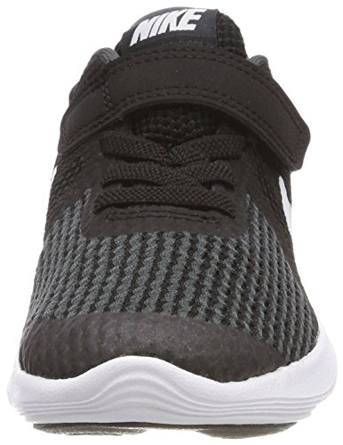 Nike Boys' Revolution 4 (PSV) Running Shoe, Black/White-Anthracite, 3Y Youth US Little Kid by Nike (Image #4)