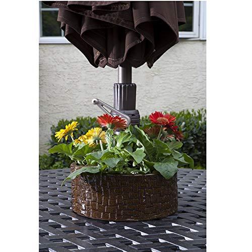 Buy patio table umbrella planter