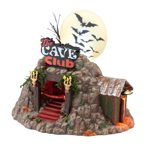 - Department 56 Snow Village Halloween The Cave Club Lit House, 5.9 inch