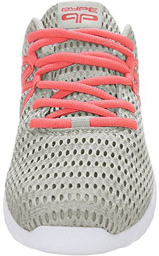 Sneakers Gray Up Contrast Authorized Color Training PYPE Mesh uxcell Lace Women wgzPPv