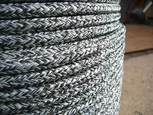 """Super Low Stretch Spectra Sailboat Rigging Rope Line 5//16/"""" x 75/' Blue//Silver"""