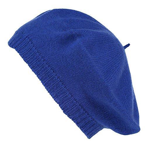 - Pure Cashmere Beret - Made in Scotland (Blue)