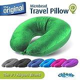 Cloudz Microbead Travel Neck Pillow - Bright Green