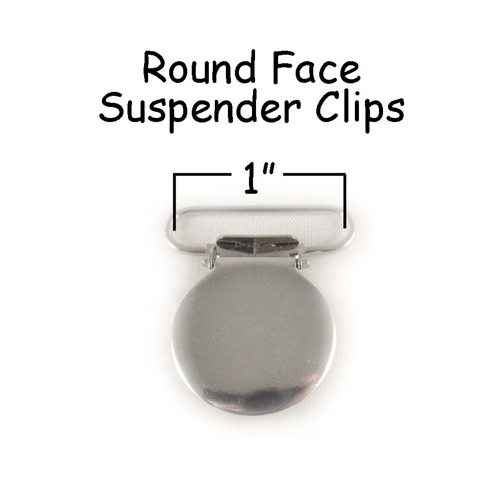 100 Suspender/Pacifier Clips - 1'' Round Face w/Rectangle Inserts by I Craft for Less