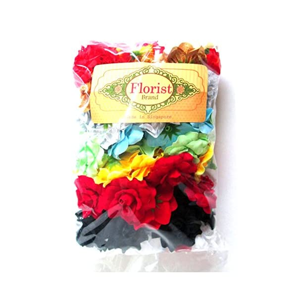 (100) Assorted Silk Roses Flower Head – 1.75″ – Artificial Flowers Heads Fabric Floral Supplies Wholesale Lot for Wedding Flowers Accessories Make Bridal Hair Clips Headbands Dress