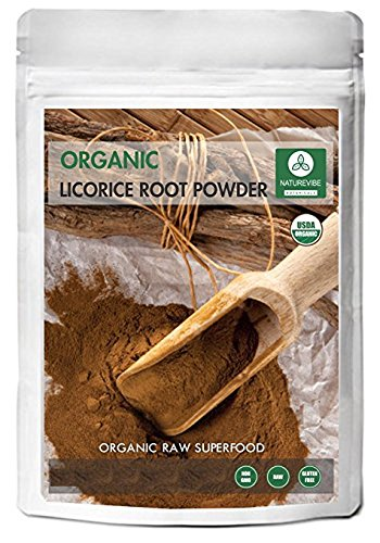 Organic Licorice Root Powder (16 Ounces) - Glycyrrhiza glabra - USDA Certified Organic | Hyperacidity & Sore Throat | Helps with Respiratory Problems | Ayurvedic Herbal Supplement