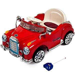 Ride On Toy Car, Battery Powered Classic Car Coupe With Remote Control and Sound by Lil' Rider - Toys for Boys and Girls, 3 Year Olds And Up (Red) by Trademark Global - Toys