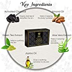 Khadi Essentials Luxurious Ayurvedic Activated Charcoal Sugar Soap with Green Tea Extracts For Deep Cleanse and De-Tan…