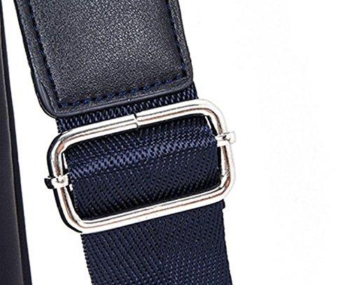 Bolso De Hombro De Los Hombres Impermeable De Tela De Oxford Pack De Negocios Maletín Narrow Cross Bolsa De Bolso Moda Casual Black1