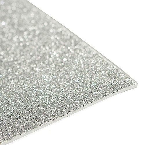 Homeford Firefly Imports Glitter EVA Foam Sheet, 13 x 18-Inch, 10-Pack, -