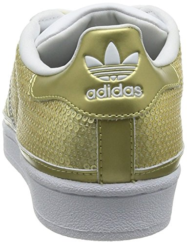 adidas Originals Damen Superstar Sneakers Gold (Gold Metalic/Gold Metalic/Ftwr White)