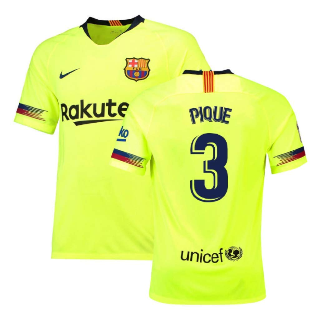 2018-19 Barcelona Away Football Soccer T-Shirt Trikot (Gerard Pique 3)