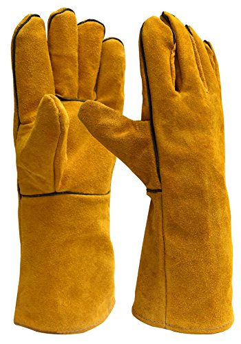 - Killer Whale Welding Gloves Lined Leather 14