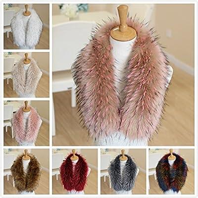 e0706b467762 Naomi Women Fashion Elegant Faux Fur Collar Scarf Warm Warmer Shawl Wrap  Stole Multicolor one size