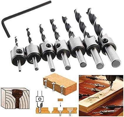 25 mm brocas helicoidales de 10 460 mm de largo multicolor paquete de 1 pieza 230 Broca helicoidal para taladro de madera MASO HEX