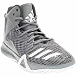 adidas Performance Men's DT Bball Mid Basketball Shoe, Grey/White/Dgh Solid Grey, 14 M US