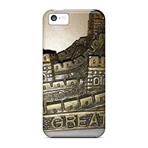 New Snap-on Anglams Skin Case Cover Compatible With Iphone 5c- Great Wall Model
