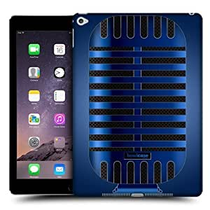 Head Case Designs Blue Classic Vintage Microphones Protective Snap-on Hard Back Case Cover for Apple iPad Air 2