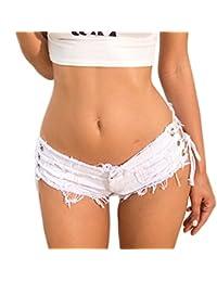 ZumZup Women's Sexy Cut Off Denim Jeans Shorts Hot Pants Low Waist Summer