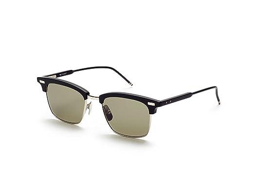 e78aa3fb829 Sunglasses THOM BROWNE TB 711 B-T-BLK-SLV Matte BlackSilver w  G15 ...