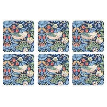 Pimpernel Strawberry Thief Blue Set of 6 Coasters 2010268717