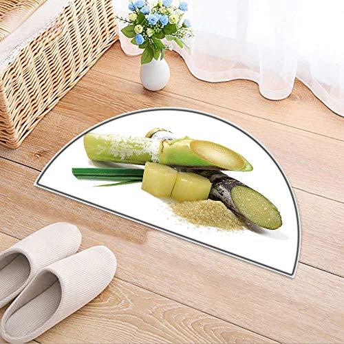 Carpet Floor mat Bath mat Door mat Sugar Cane Isolated on White Background Water-Absorbing Floor mat Anti-Slip mat W35 x H24 INCH