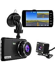 【2021 New Version】CHORTAU Dual Dash Cam Full HD 1080P 170° Dash Camera 4.0 Inch Screen Dash Cam Front and Rear, Dashboard Car Camera With G-sensor, Loop Recording, Motion Detection, Parking Monitor, WDR