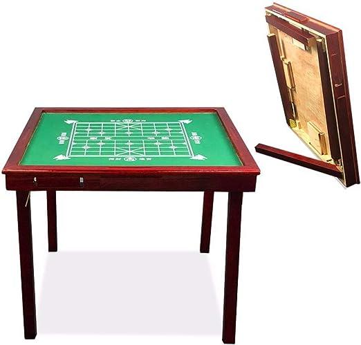 Mesa Plegable Mahjong Sólido Simple de Madera Mahjong de Mesa ...