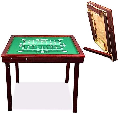 Muebles De Decoración De Madera Maciza de Mahjong Mesa Plegable Manual Simple de ajedrez de Mesa Hogar Multifuncional Sola Tabla (Color : Red, tamaño : One Size): Amazon.es: Hogar
