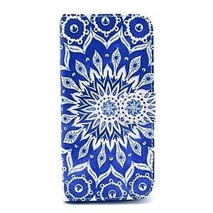 ZL Blue Mandala Pattern PU Leather Full Body Case for iPhone 6