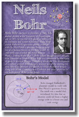 Neils Bohr - New Famous Atomic Physicist Scientist Classroom Poster