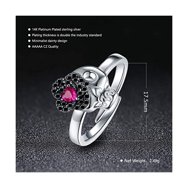 Ultra-fine Tail Ring 925 Silver Women Wedding Party CZ Engagement Band Size4-14