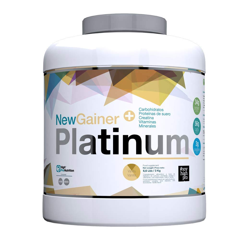 New Gainer Platinum 3 Kilogramos de High Pro Nutrition - Vainilla ...